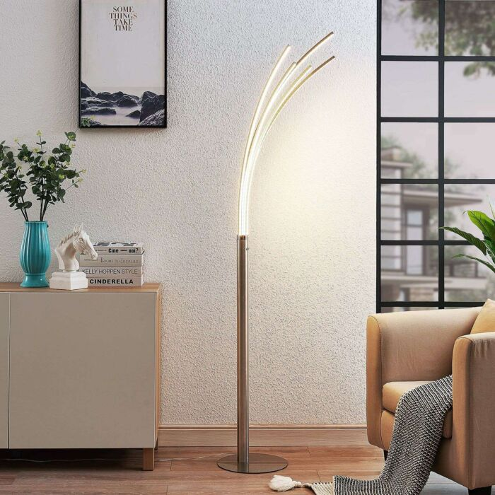 Design-floor-lamp-aluminum-incl.-LED---Boba