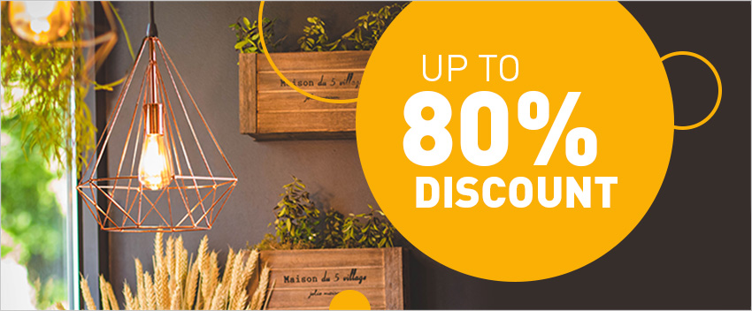 Up to 80% discount