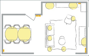 functional indoor lighting plan