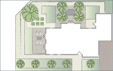 garden lighting plan
